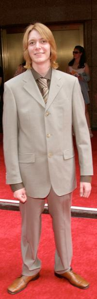 James Phelps at the premiere of
