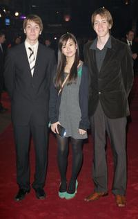 James Phelps, Katie Leung and Oliver Phelps at the premiere of