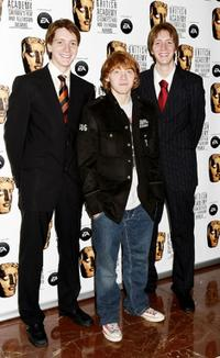 James Phelps, Rupert Grint and Oliver Phelps at the 11th British Academy Children's Film & Television Awards.