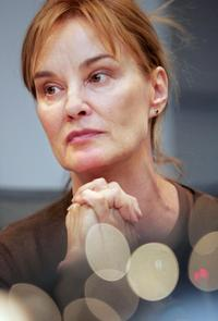 Jessica Lange at the news conference in Moscow.