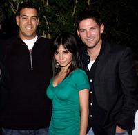 George Furla, Martha Higareda and Brian Presley at the Lions Gate International AFM Cocktail Party.