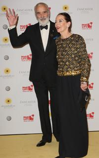 Christopher Lee and his wife Gitte at the Dreamball 2007.
