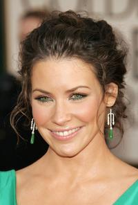 Evangeline Lilly at the 63rd Annual Golden Globe Awards.