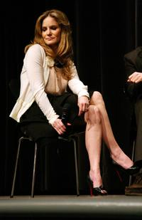 Jennifer Jason Leigh at the MoMA, after screening of