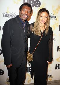 Vonde Curtis Hall and Kasi Lemmons at the Black Movie Awards HBO after party.