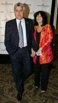 Jay Leno and wife Mavis Nicholson at the 4th Annual Adopt-A-Minefield Gala.