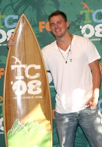 Channing Tatum at the Choice Movie Actor Drama award during the 2008 Teen Choice Awards.