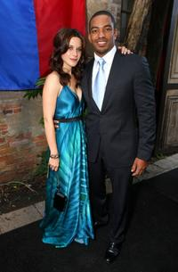 Valentina Cervi and Laz Alonso at the pre-party of the premiere of