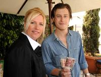 Stephanie Benner and Noah Segan at the 2008 DPA Garden Party gift suite.