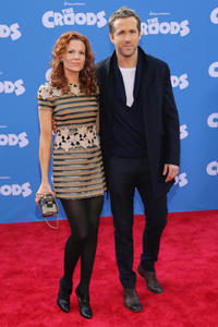 Robyn Lively and Ryan Reynolds at the New York premiere of