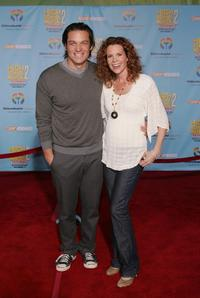 Bart Johnson and Robyn Lively at the premiere of