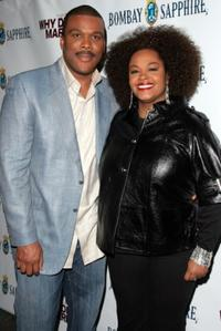 Tyler Perry and Jill Scott at the premiere of