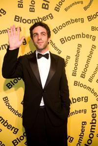B.J. Novak at the Bloomberg after party during the White House Correspondents Dinner.