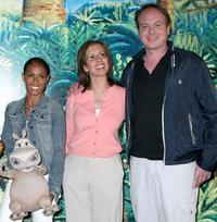 Jada Pinkett-Smith, Mireille Soria and Tom McGrath at the premiere of