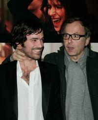 Romain Duris and Fabrice Luchini at the premiere of