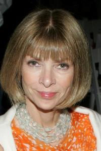 Anna Wintour at the Peter Som Spring 2006 fashion show.