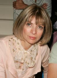 Anna Wintour at the Ralph Lauren show during the Olympus Fashion week Spring 2005.