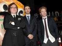 Clark Duke, Josh Zuckerman and Seth Green at the premiere of