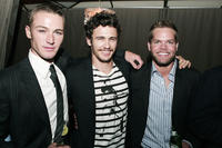 Jake McLaughlin, James Franco and Wes Chatham at the after party of the California premiere of