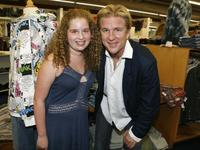 Allie Grant and Matthew Modine at the season premiere of