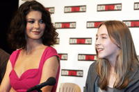 Actress Catherine Zeta-Jones and Saoirse Ronan at the Australian premiere of