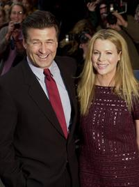 Kim Basinger and her husband Alec Baldwin at the premiere of