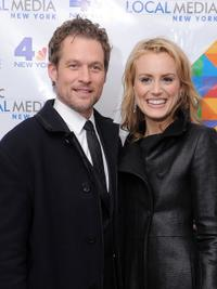 James Tupper and Taylor Schilling at the WNBC's Rockefeller Center Tree Lighting celebration.