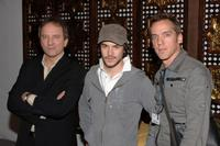 Michael Cote, Marc-Andre Grondin and director Jean Marc Vallee at the photocall of