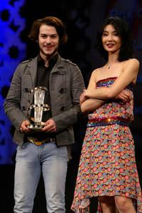 Marc-Andre Grondin and Guest at the 35th Cesar Film Awards 2010.