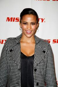 Paula Patton at the Miss Sixty Fall 2008 fashion show during the Mercedes-Benz Fashion Week Fall 2008.