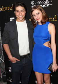 Logan Huffman and Haley Ramm at the California premiere of