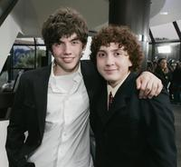 Carter Jenkins and Daryl Sabara at the premiere of