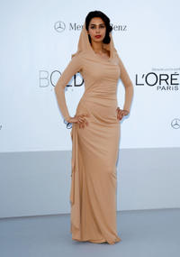 Malika Sherawat at the 2012 amfAR's Cinema Against AIDS Gala during the 65th Annual Cannes Film Festival.