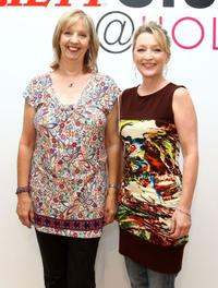 Ruth Sheen and Lesley Manville at the Variety Studio during the 35th Toronto International Film Festival.