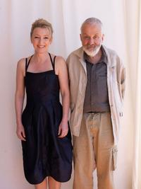 Lesley Manville and director Mike Leigh at the 63rd Annual Cannes Film Festival.