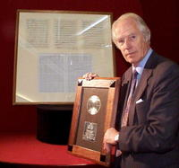 George Martin at the announcement of the sale of the instrumental score and BPI sales award for Candle in the Wind '97.