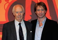 George Martin and his son Giles at the Launch of the New Beatles Album,