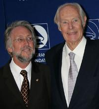 Neil Portnow and George Martin at the Grammy Foundation's