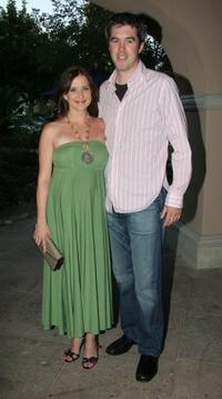 Kellie Martin and her husband Keith Christian at the Hallmark Channel 2006 summer TCA party.