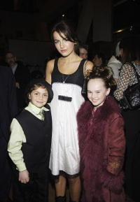 Arthur Young, Camilla Belle and Madeline Carroll at the premiere of