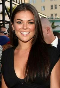Serinda Swan at the premiere of