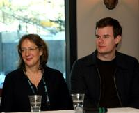 Janet Pierson and Joe Swanberg at the IFC Films 2009 Sundance Breakfast during the 2009 Sundance Film Festival.