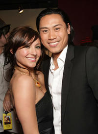Briana Evigan and director Jon M. Chu at the L.A. premiere of