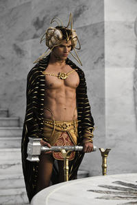 Kellan Lutz as Poseidon in ``Immortals.''