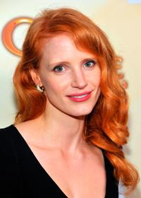 Jessica Chastain at the HFPA Salute To Young Hollywood party.