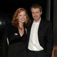 Jessica Chastain and Harry Gregson-Williams at the Cocktail Reception Presenting The Crescendo Award.