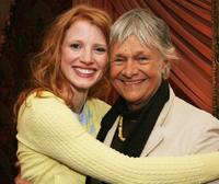 Jessica Chastain and Estelle Parsons at the creative coalition VIP