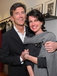 Matt McCoy and Mary McCoy at the opening of new Badgley Mischka boutique.