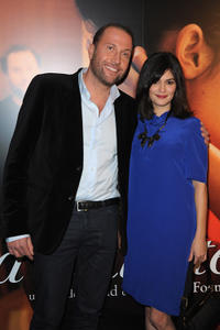 Francois Damiens and Audrey Tautou at the Paris premiere of