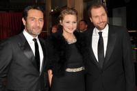 Gilles Lellouche, Virginie Efira and Francois Damiens at the 36th Cesar Awards Ceremony in Paris.